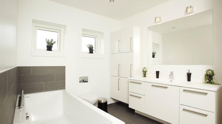 Til indretningen af det moderne badeværelse
